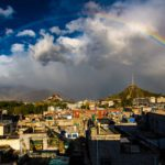 Rainbow over Lhasa, Tibet