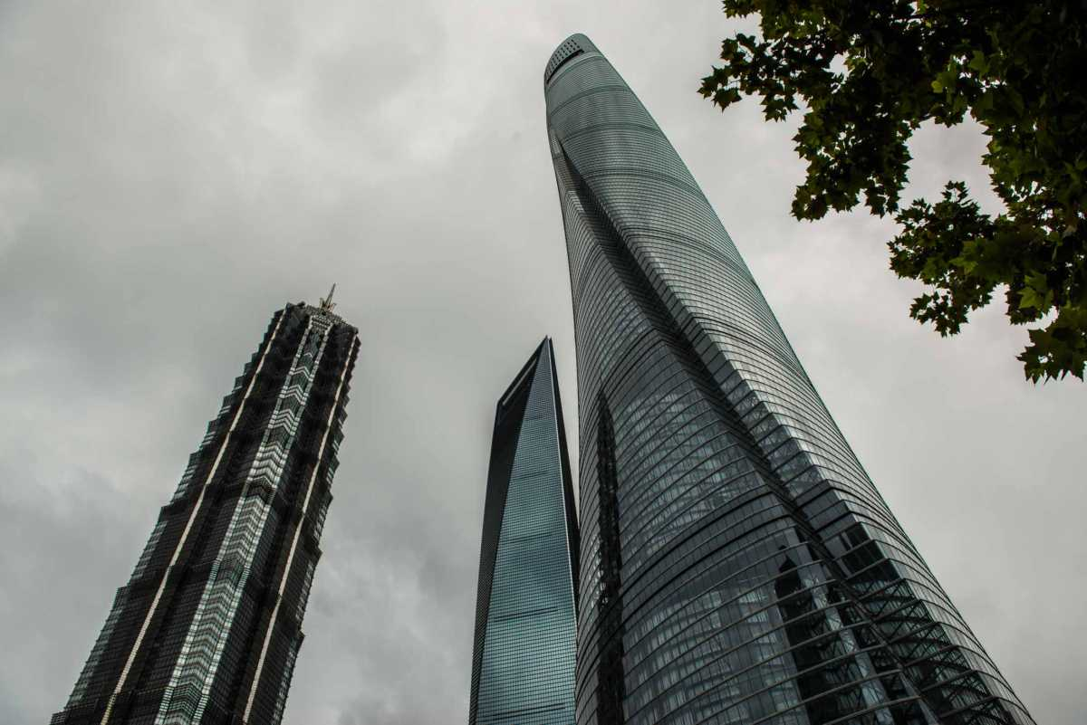 The trio Shanghai financial district