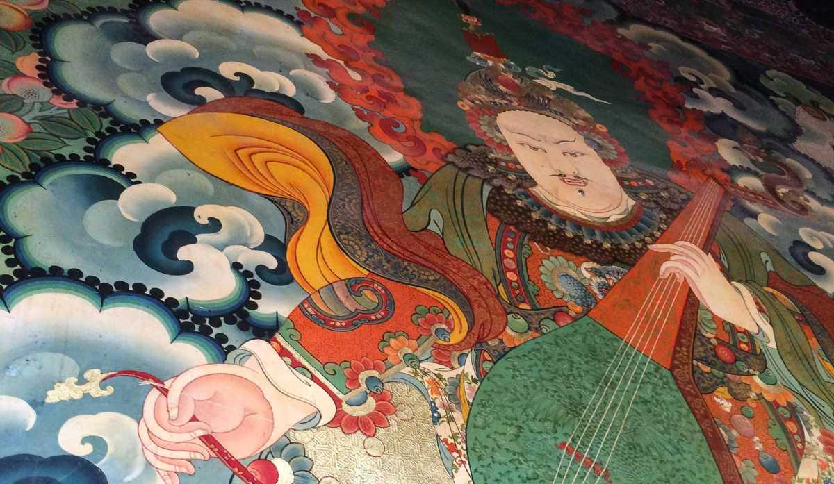 Thangka painting in Jokhang Temple, Lhasa, Tibet