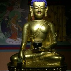 Buddha on display in Tibet Museum, Lhasa