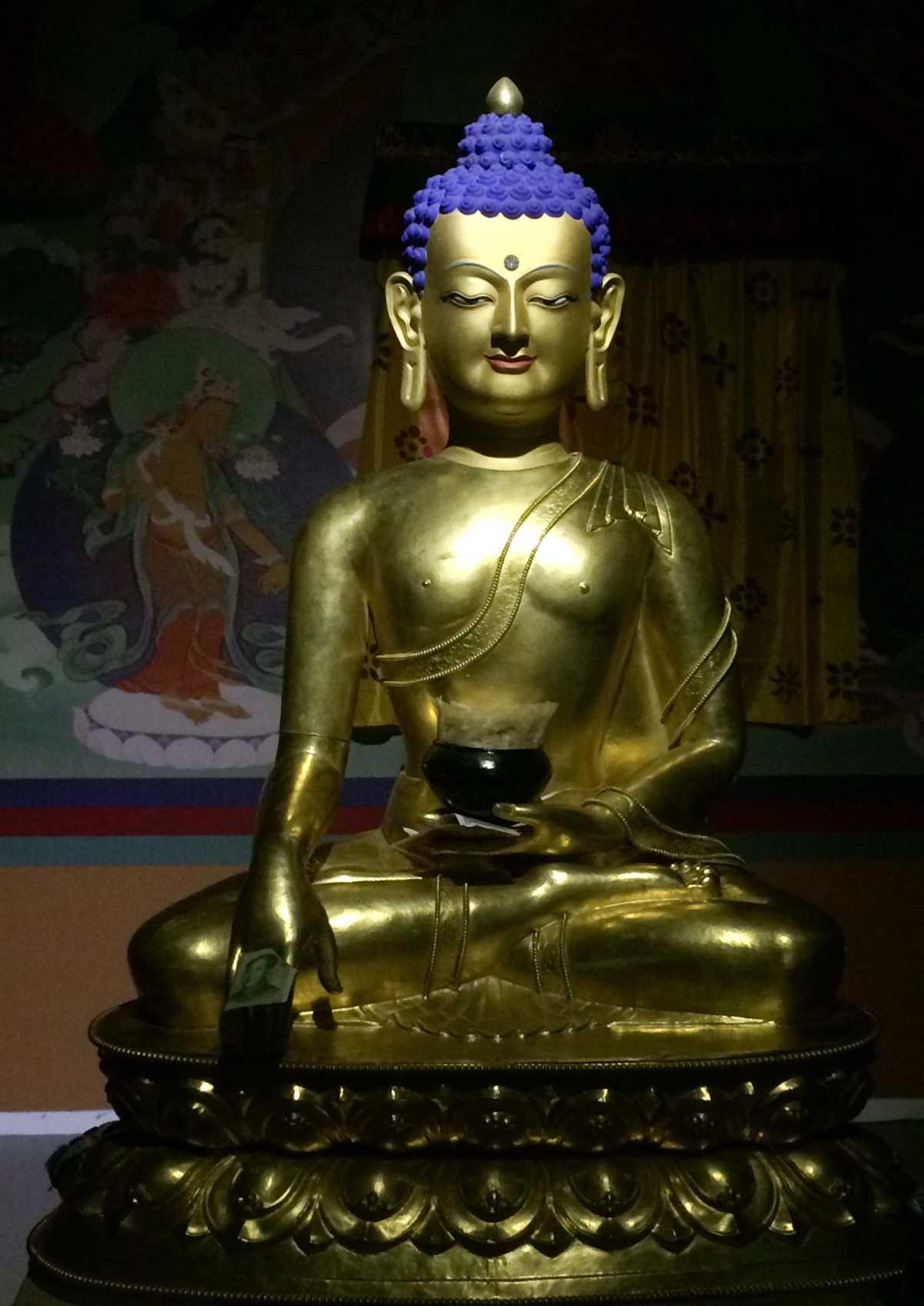 Buddha on display in Tibet Museum, Lhasa