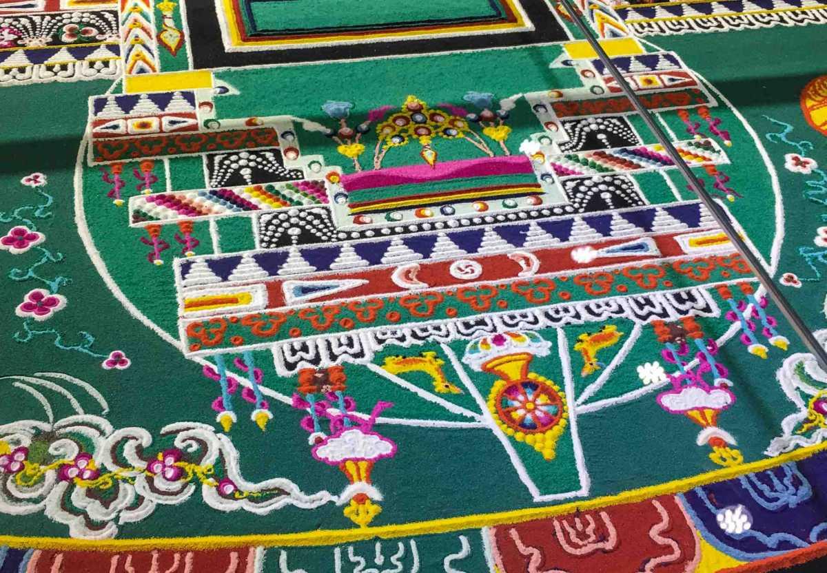 Detail of sand mandala, Tibet Museum, Lhasa