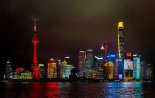 China_Shanghai_skyline night