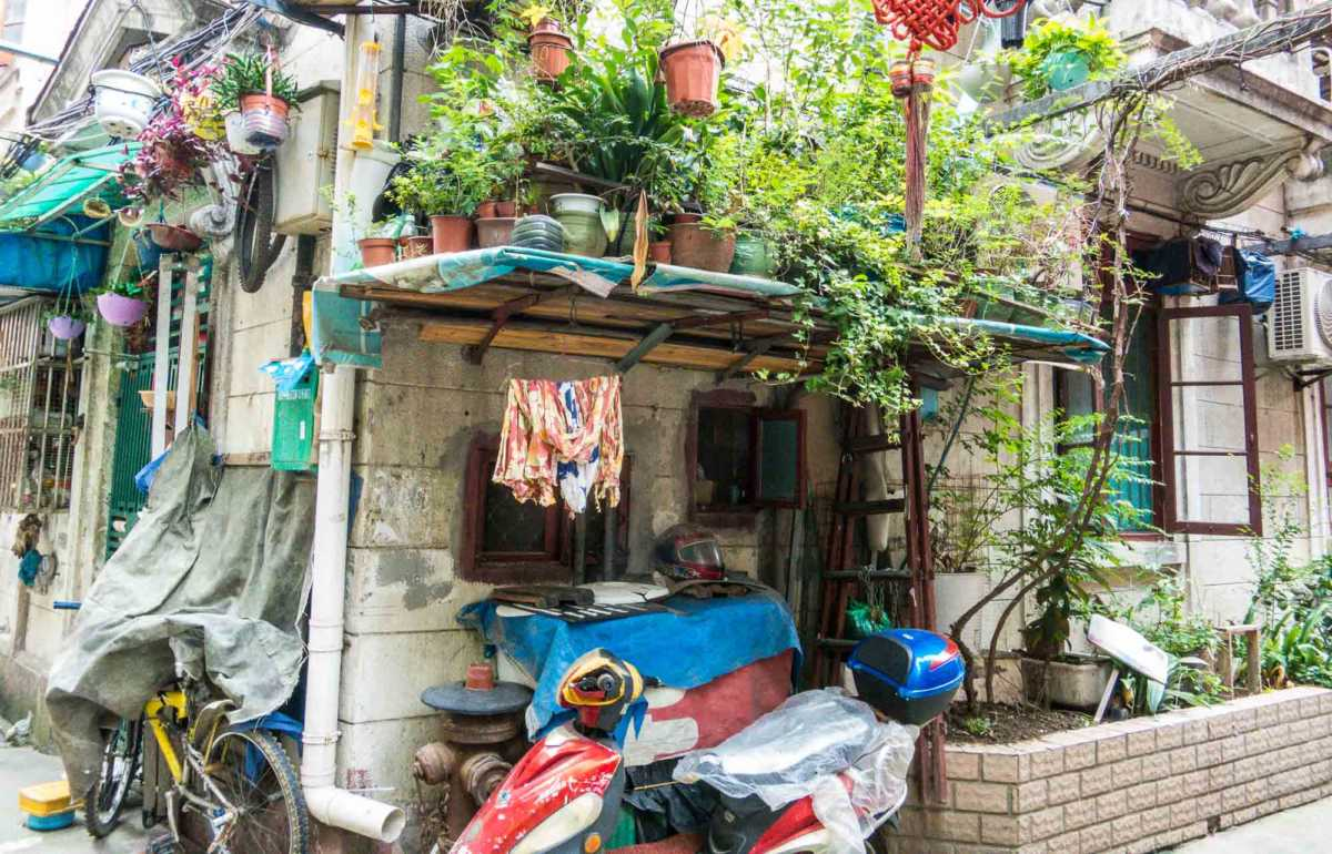 Maximizing space and urban gardens in Shanghai Lilong.