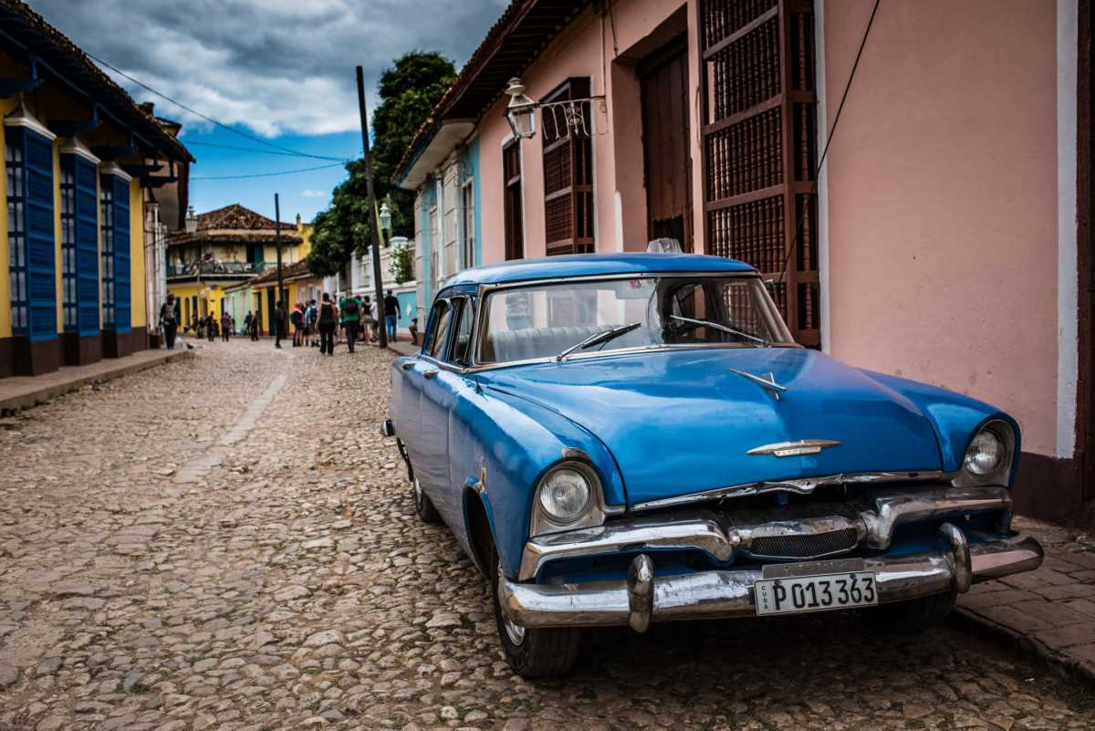 blue car trinidad