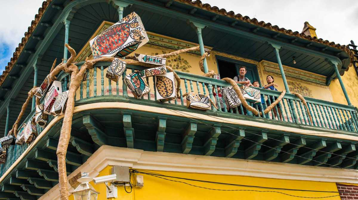 people on balcony trinidad