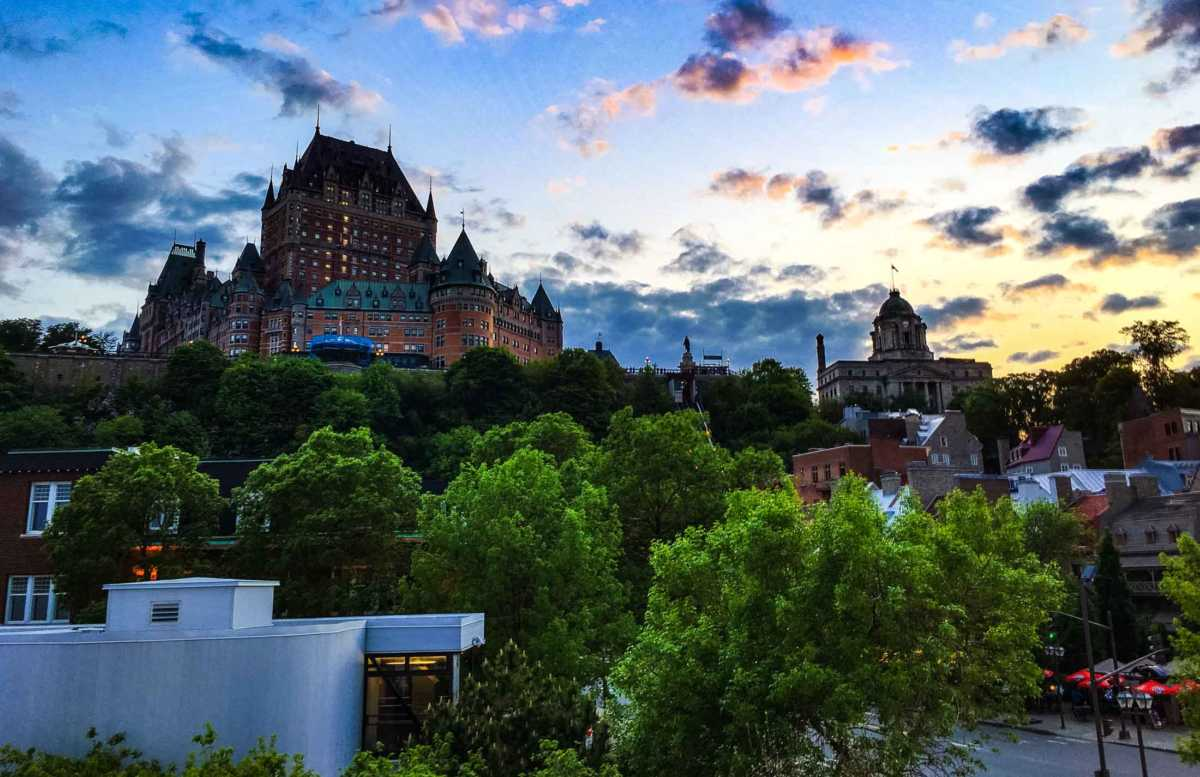 quebec city sundown