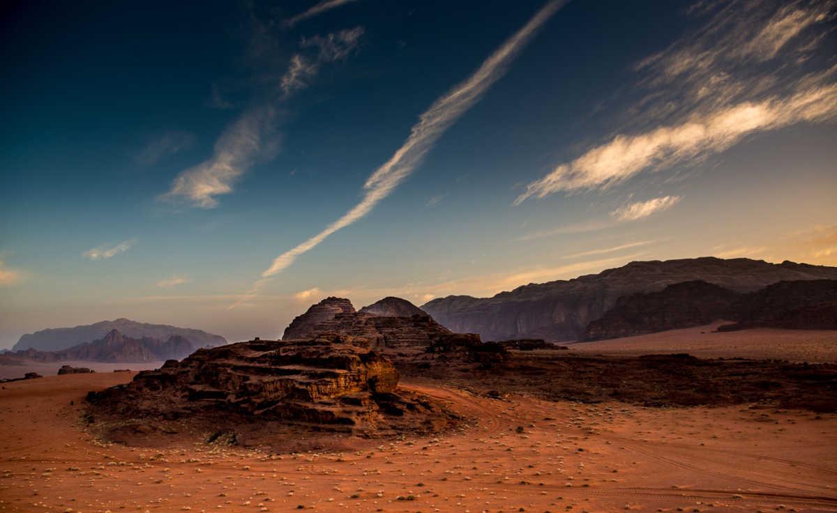 dawn wadi rum jordan