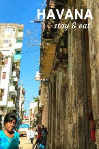 Havana Cuba cities stay eat