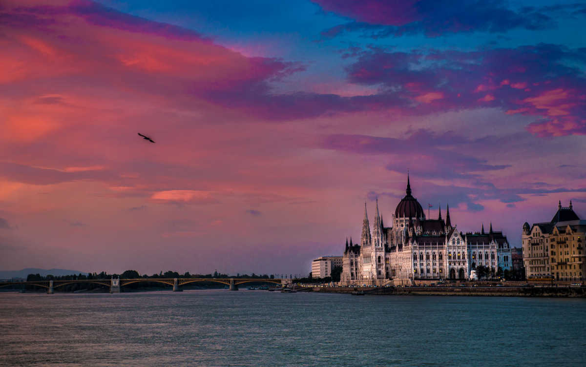 parliament danube river budapest hungary