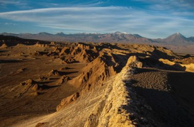 Valle de la Luna in northern Chile's Atacama Desert poses as the the surface of Mars.