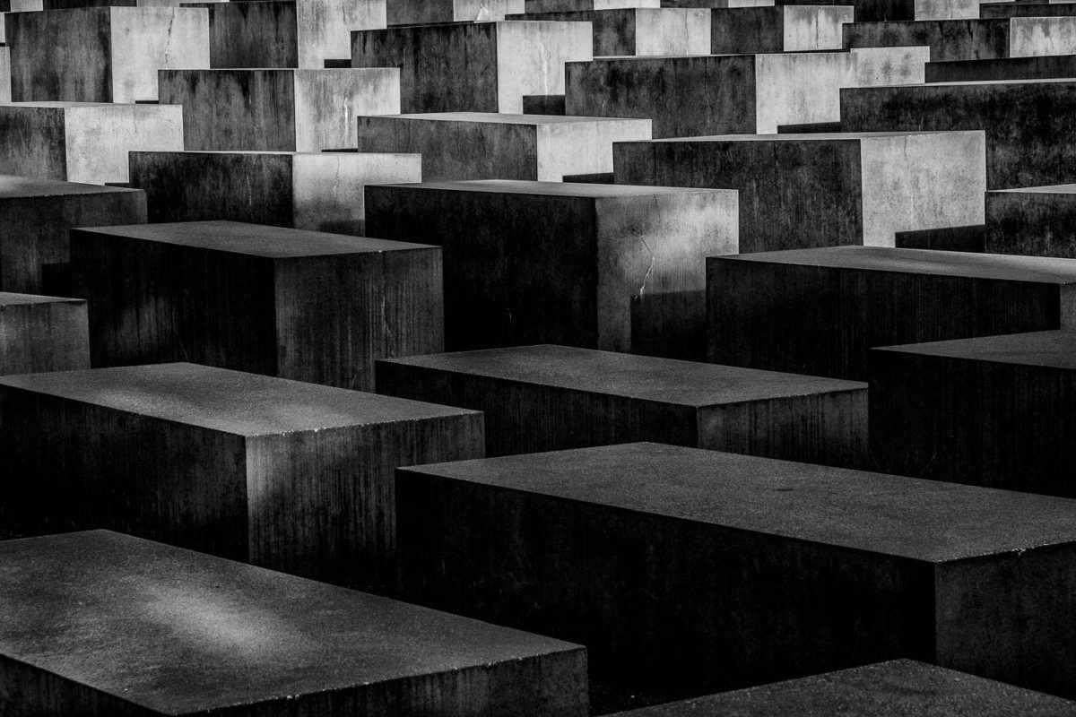 germany berlin holocaust memorial bw 2