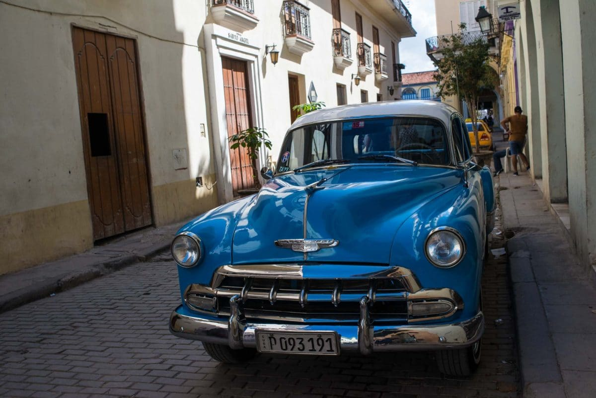 like new blue chevy havana travel to cuba vacation