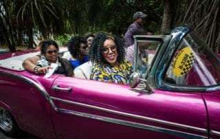 women taxi travel to cuba vacation