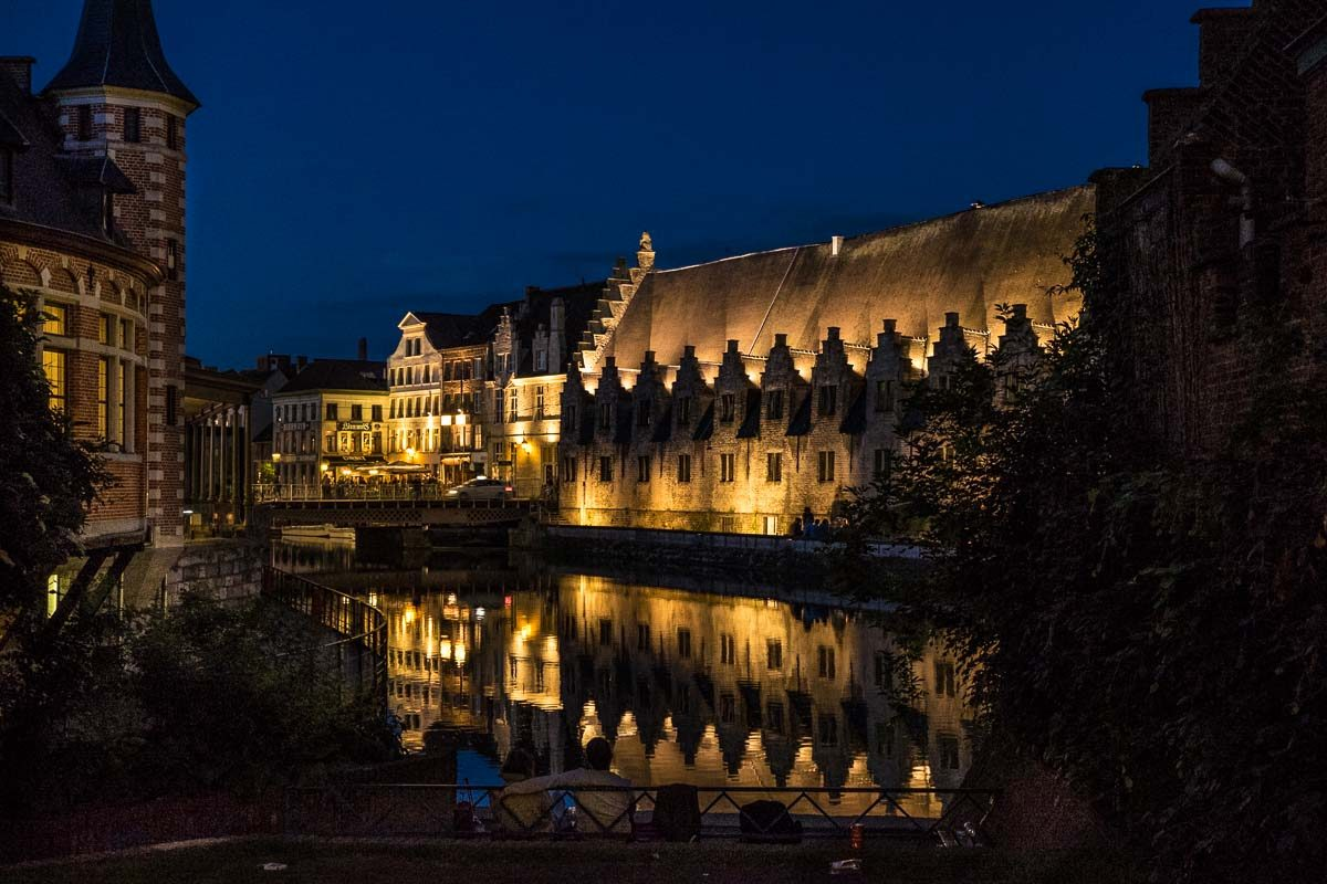 Belgium_Ghent canal night