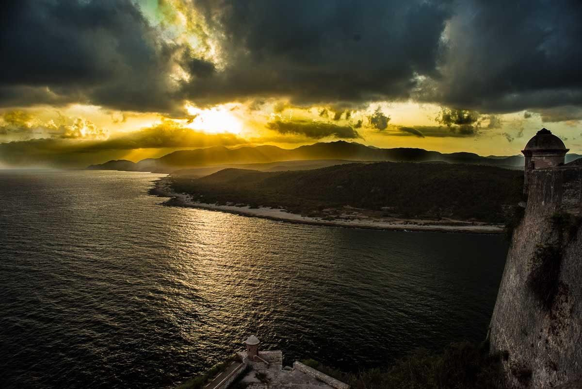 Cuba_santiago_sunset el morro-2