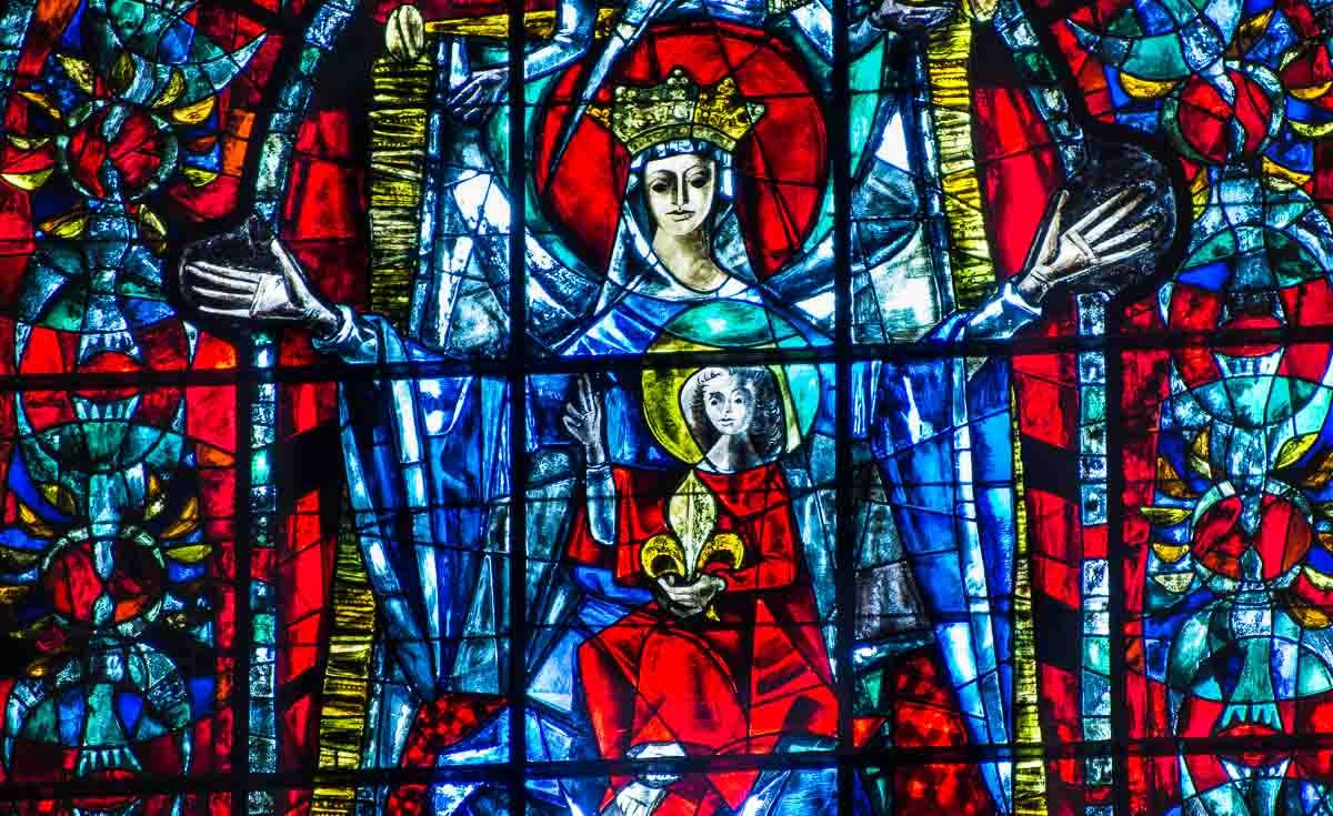 France_Strasbourg Cathedral altar window detail