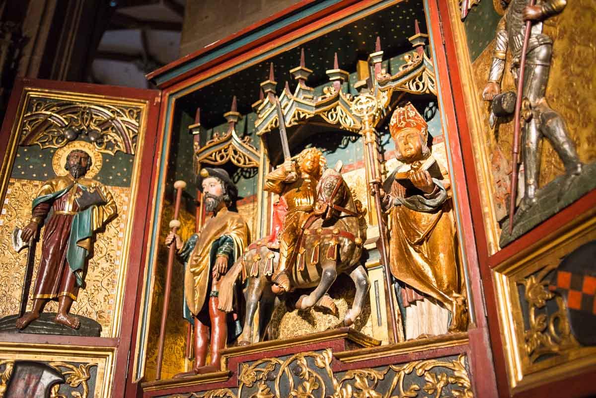 France_Strasbourg Cathedral altarpiece 1 Santiago matamoros