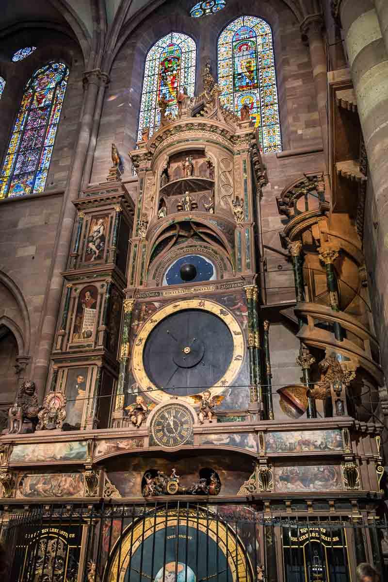 France_Strasbourg Cathedral clock vertical