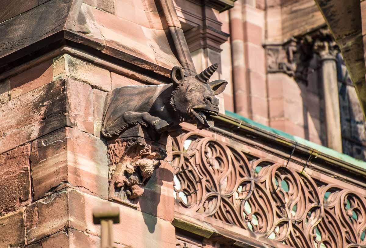 France_Strasbourg Cathedral gargoyle 8