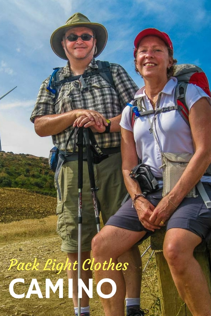Best tips for packing clothes for the Camino de Santiago. Pack light and have a good walk. #packing #travel #TBIN #SeniorTravel #ActiveTravel #Spain #Camino