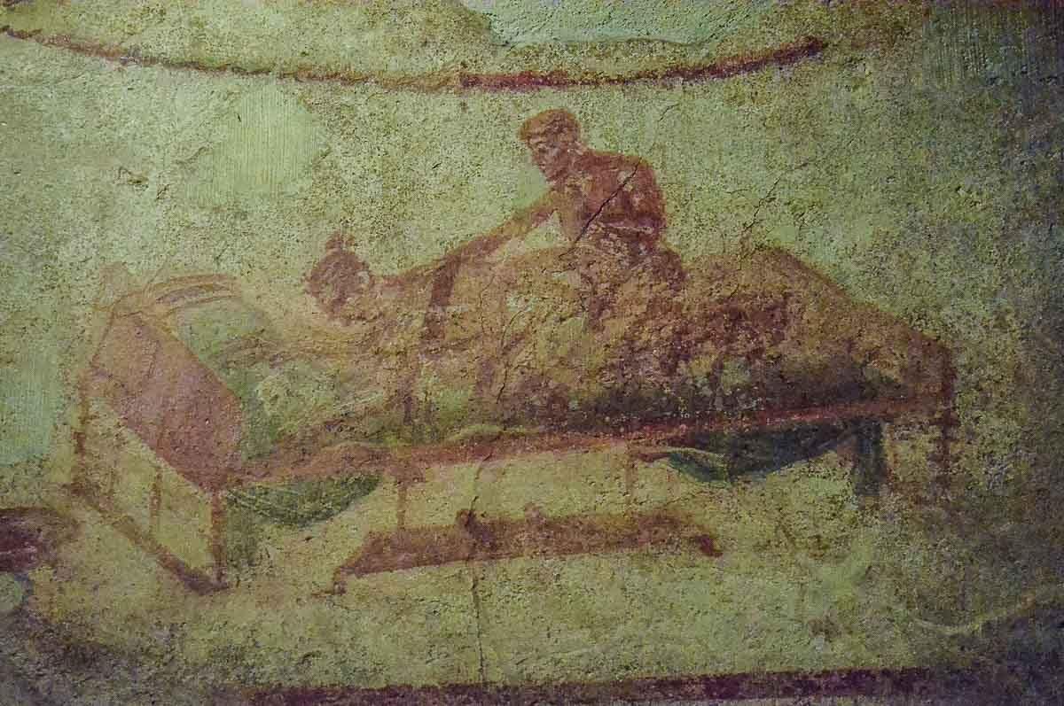 pompeii lupanar herculaneum erotic art 3