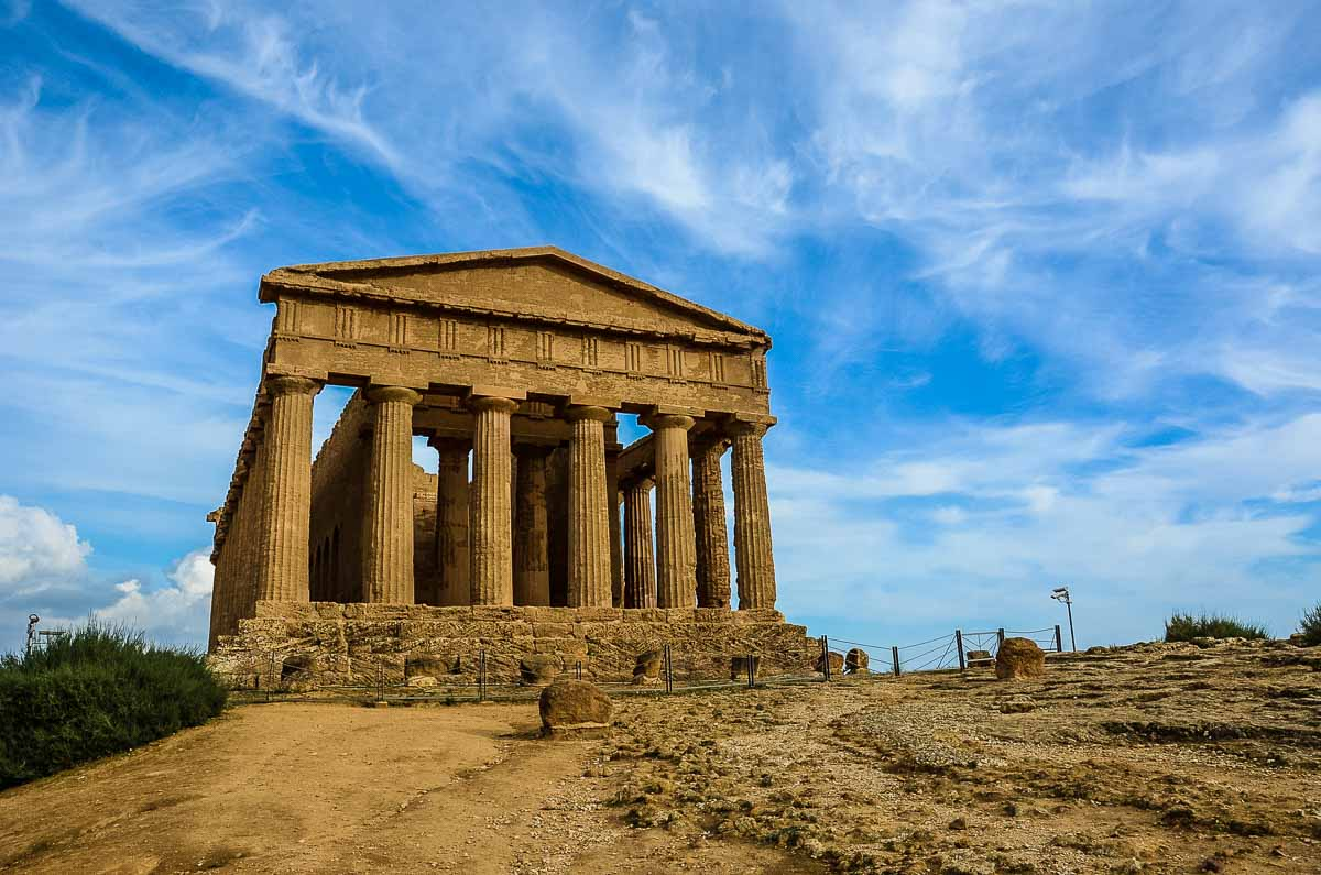 Italy Sicily Agrigento Valley of the temples concordia
