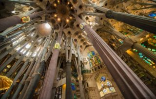 Spain Barcelona Sagrada Familia ceiling