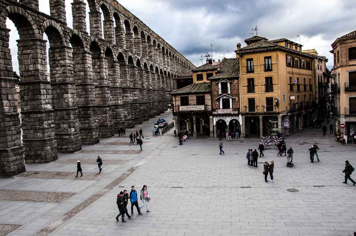 Spain Segovia Roman aqueduct wonders of spain
