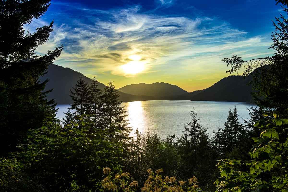 Sunset at Cresent Lake, Olympic National Park
