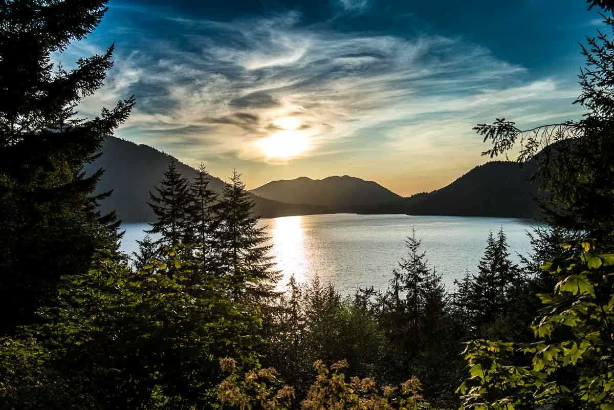 USA olympic national park sunset crescent lake