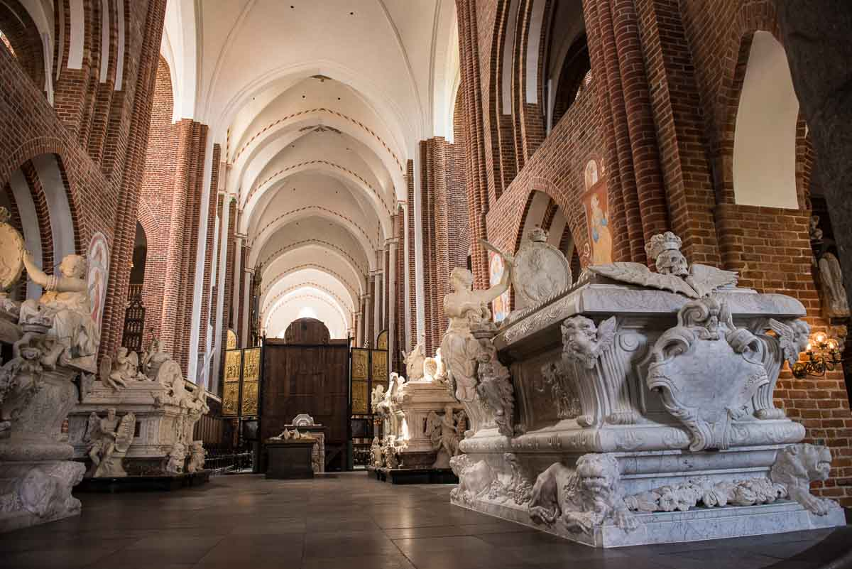 Denmark Roskilde cathedral tombs