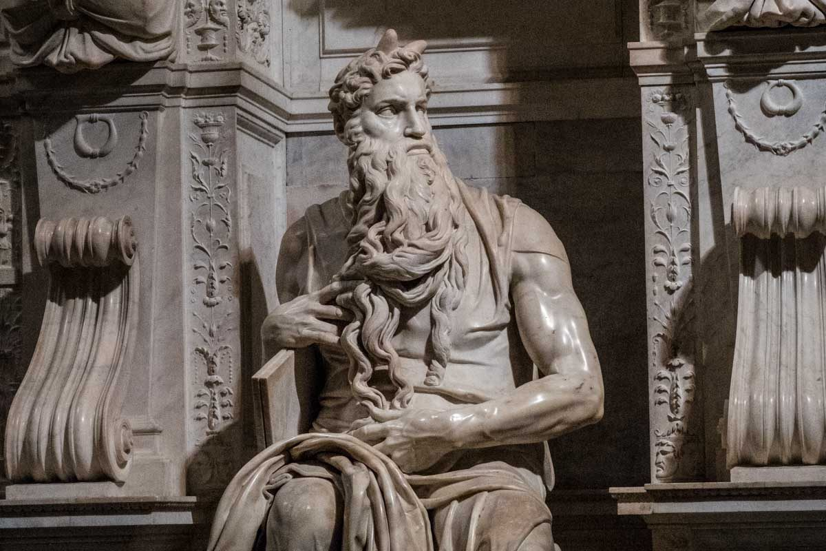 Italy rome michelangelo moses saint peter in chains