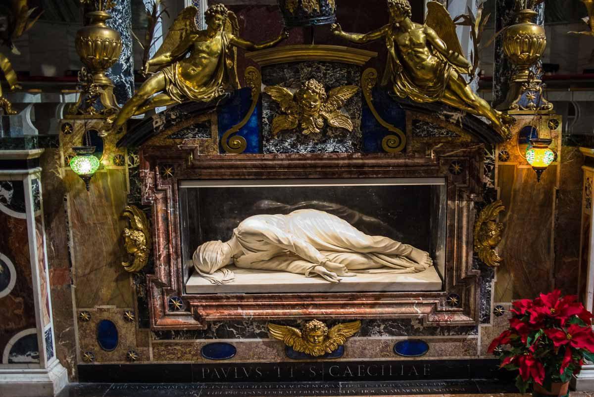 Italy rome trastevere saint cecilia tomb