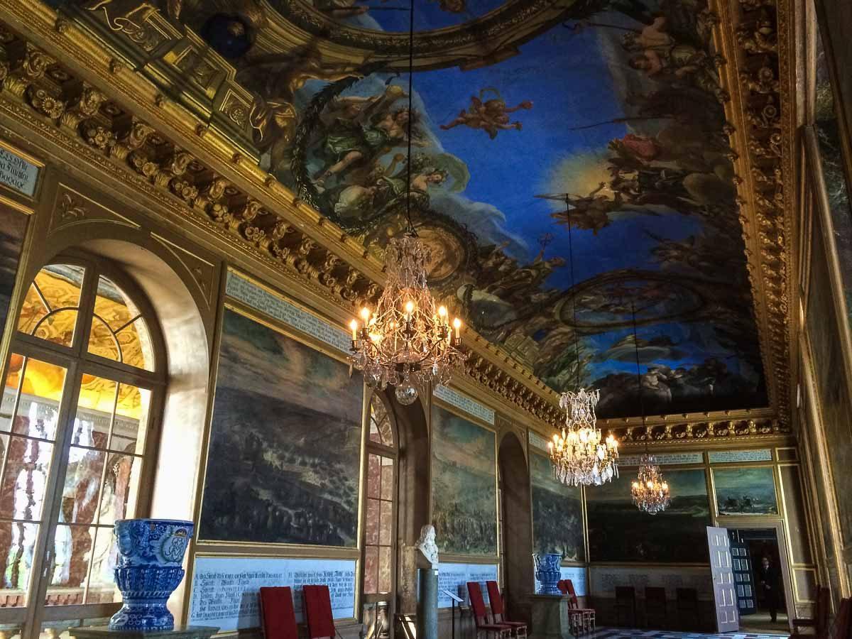 Sweden Drottningholm ceiling