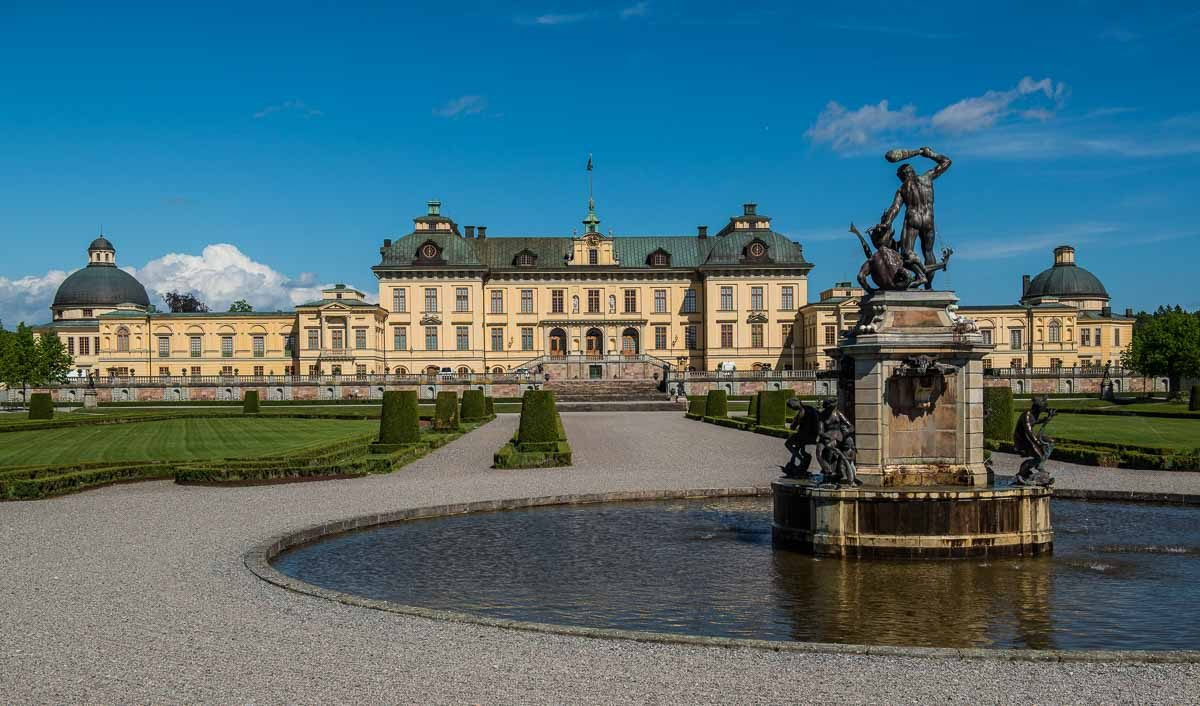 Sweden Drottningholm fountain Unesco World Heritage sweden