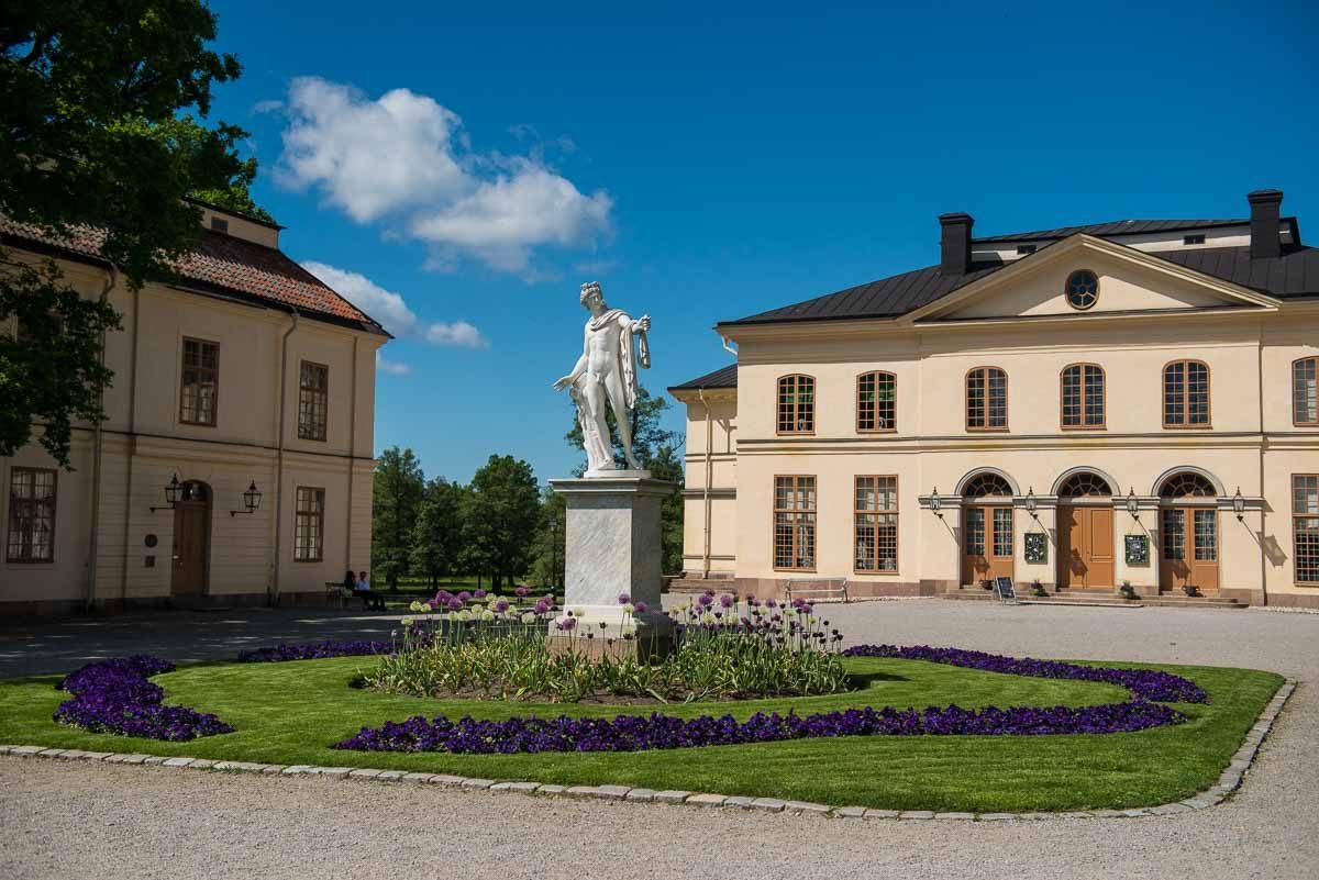 Sweden Drottningholm statue