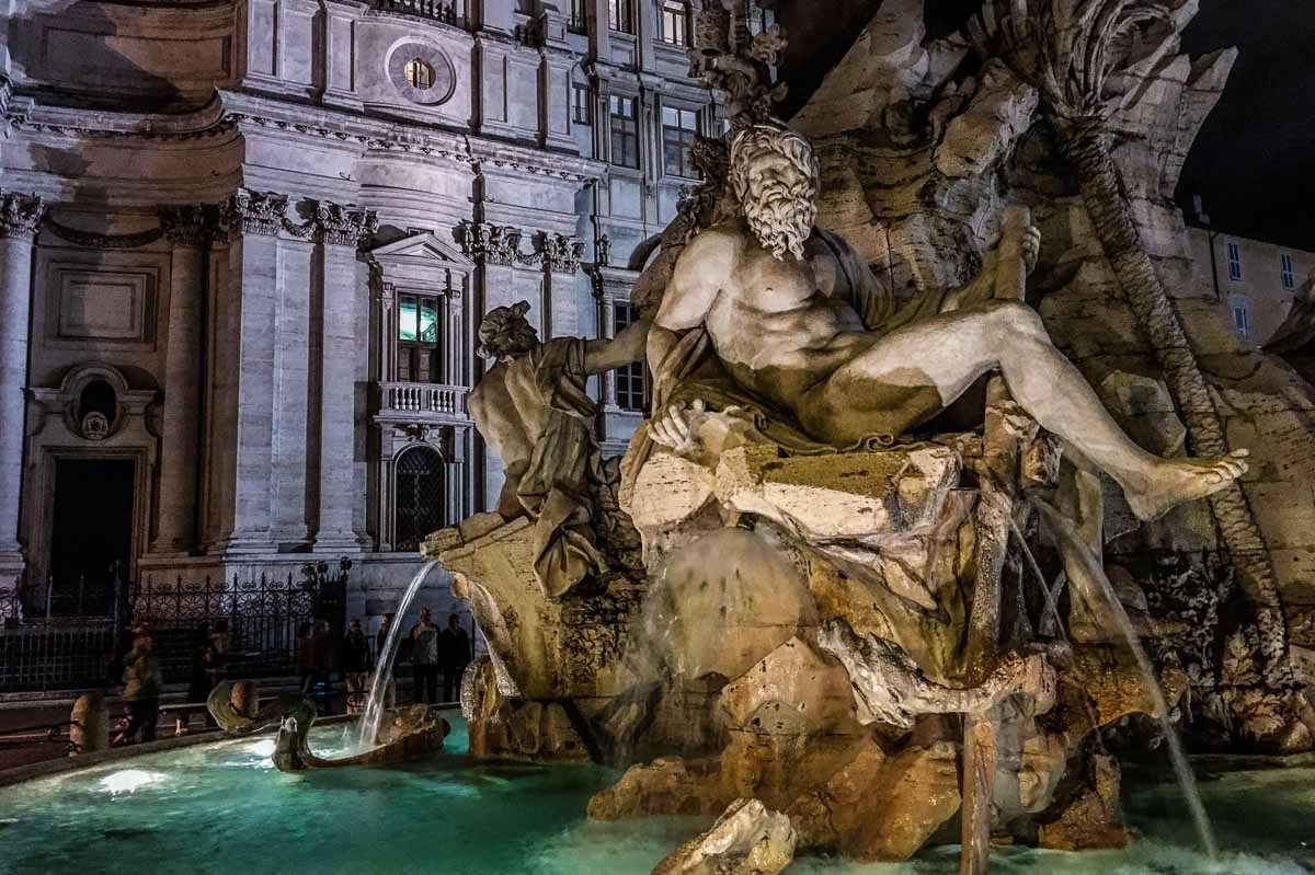 italy rome piazza navona fountain