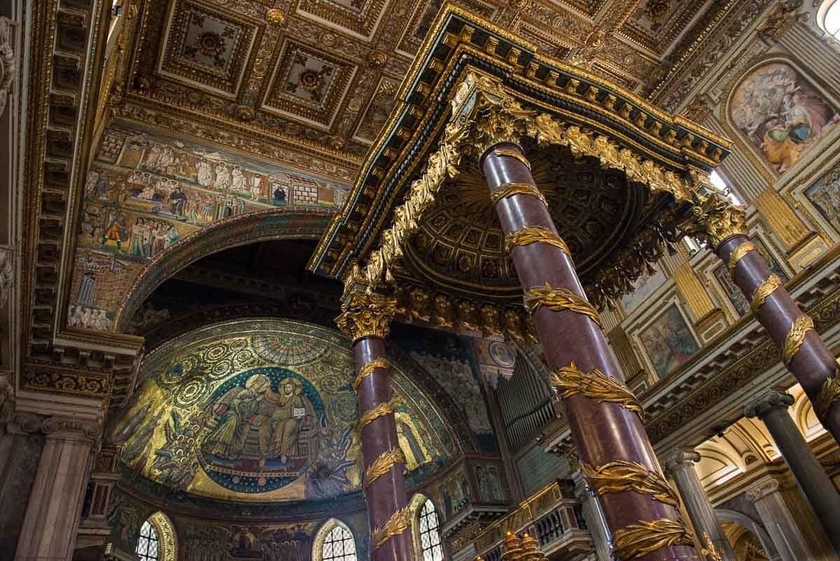 italy rome santa maria maggiore mosaics