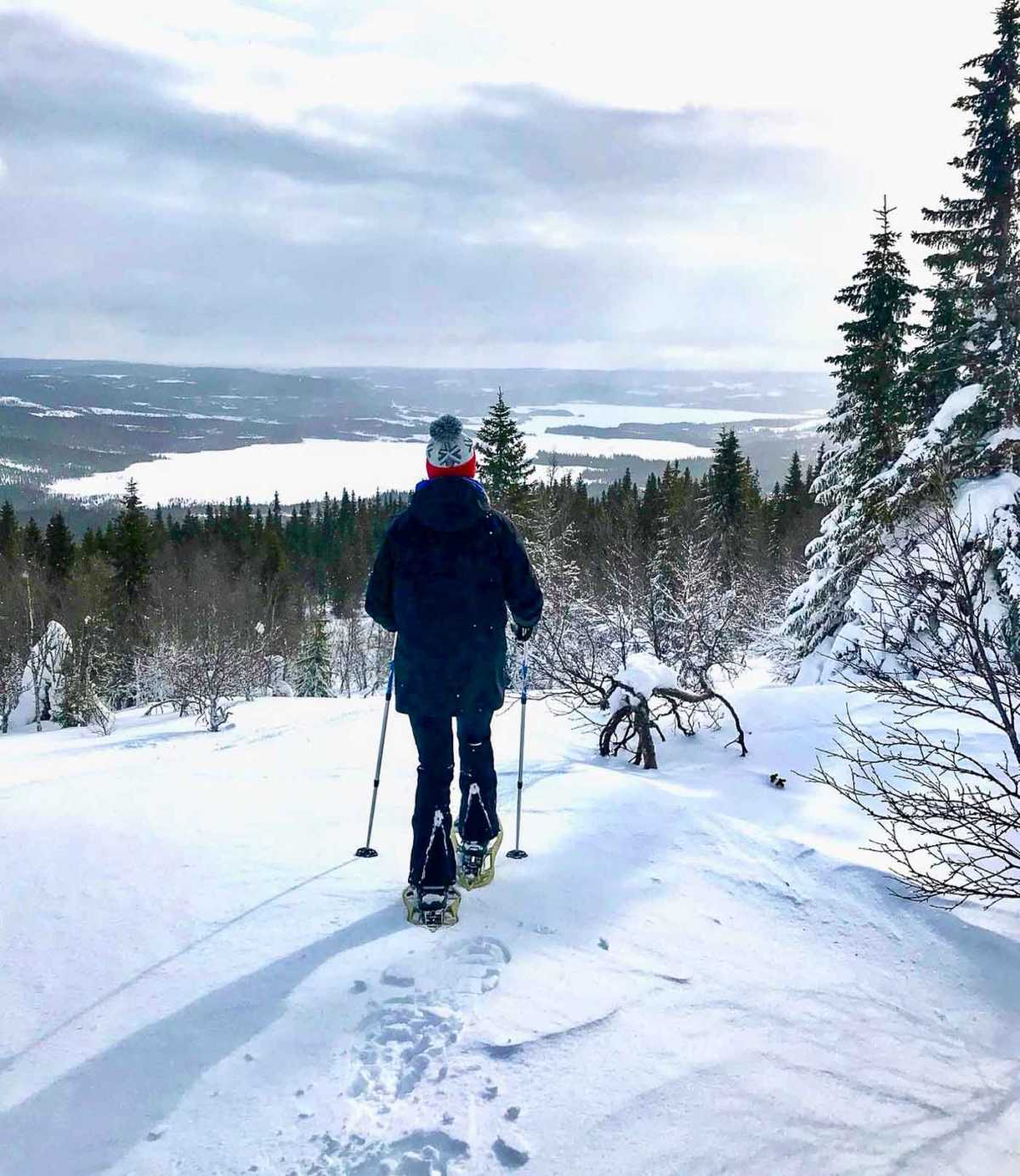 Sweden, Are, snowshoeing