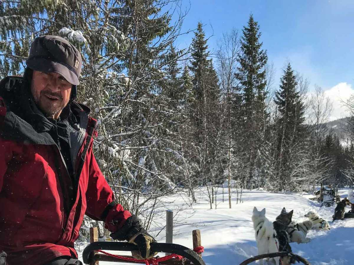 Sweden, ARE, dogsledding