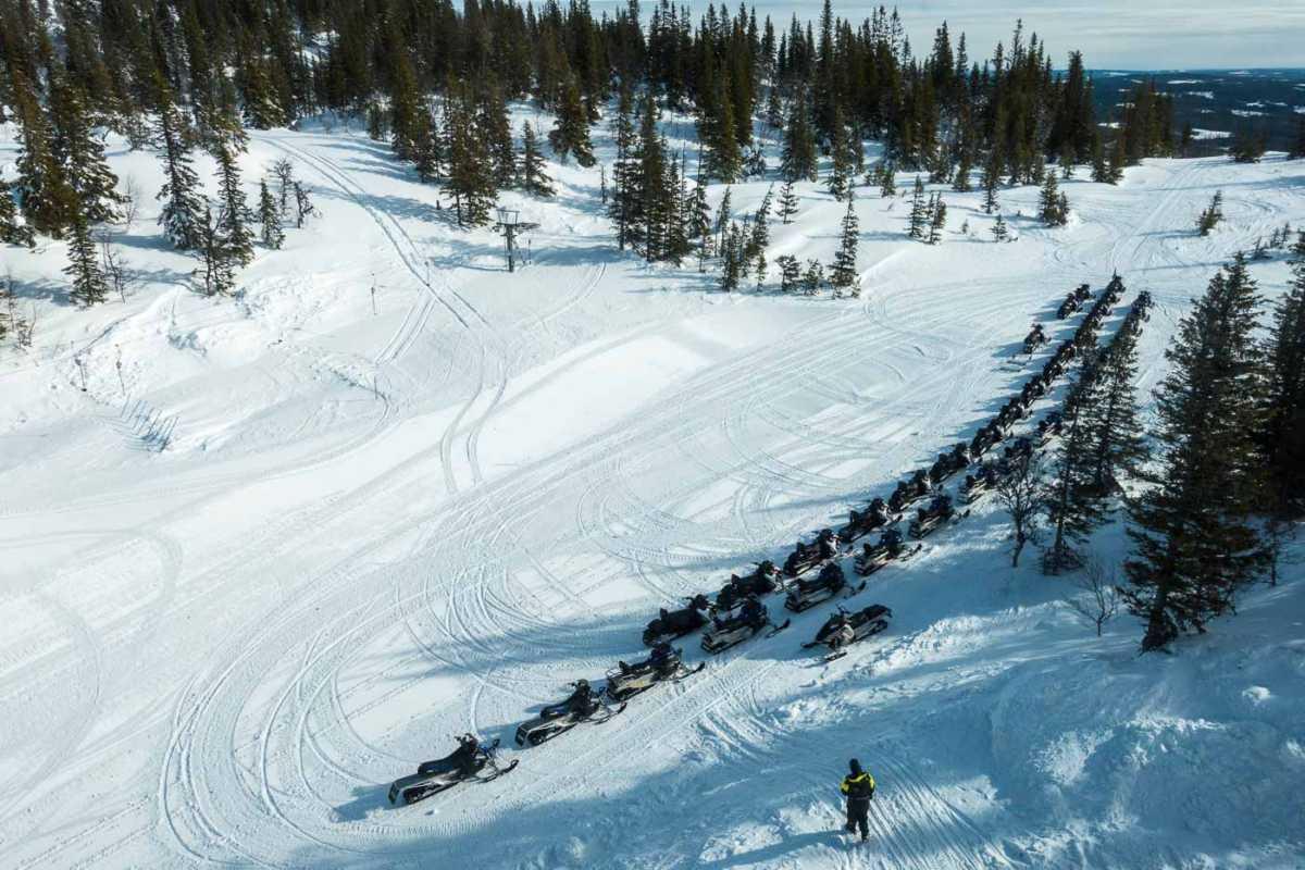 Sweden Åre snowmobiles