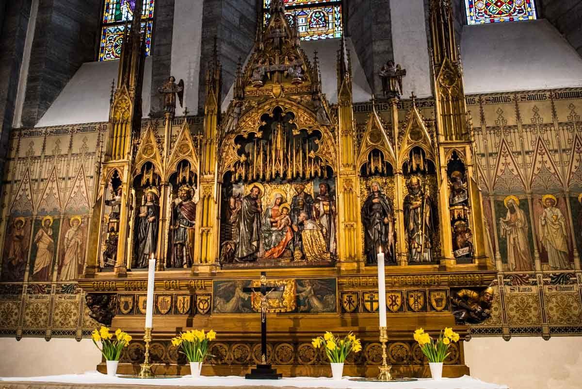 sweden visby st maria domkyrka main altar