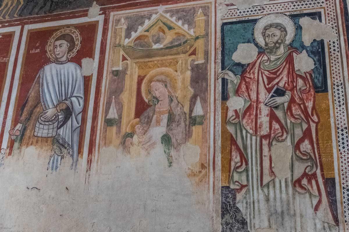 Italy Basilicata Matera cathedral frescoes