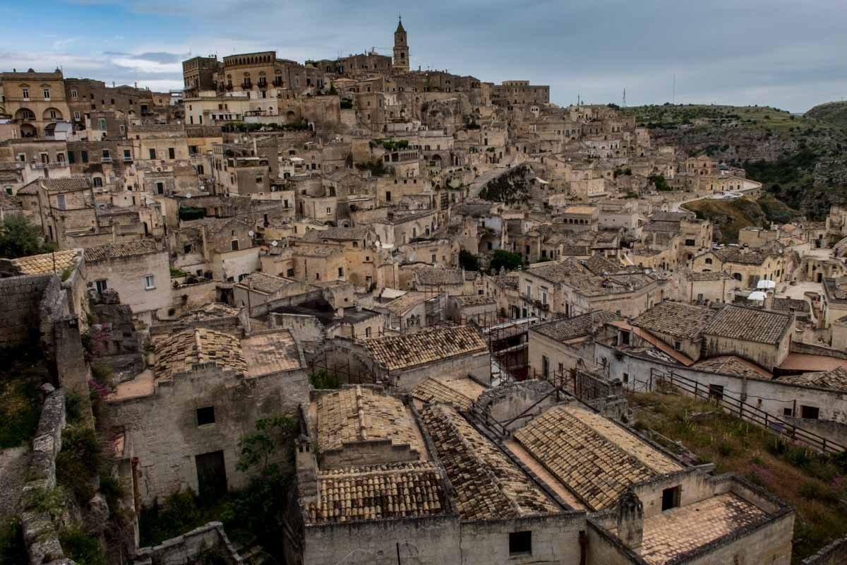 Italy Basilicata Matera roofs