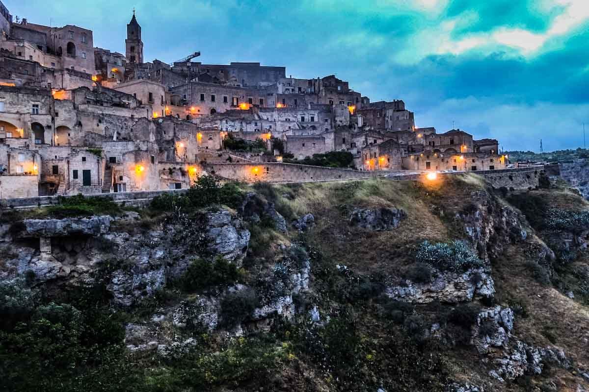 Italy matera twilight