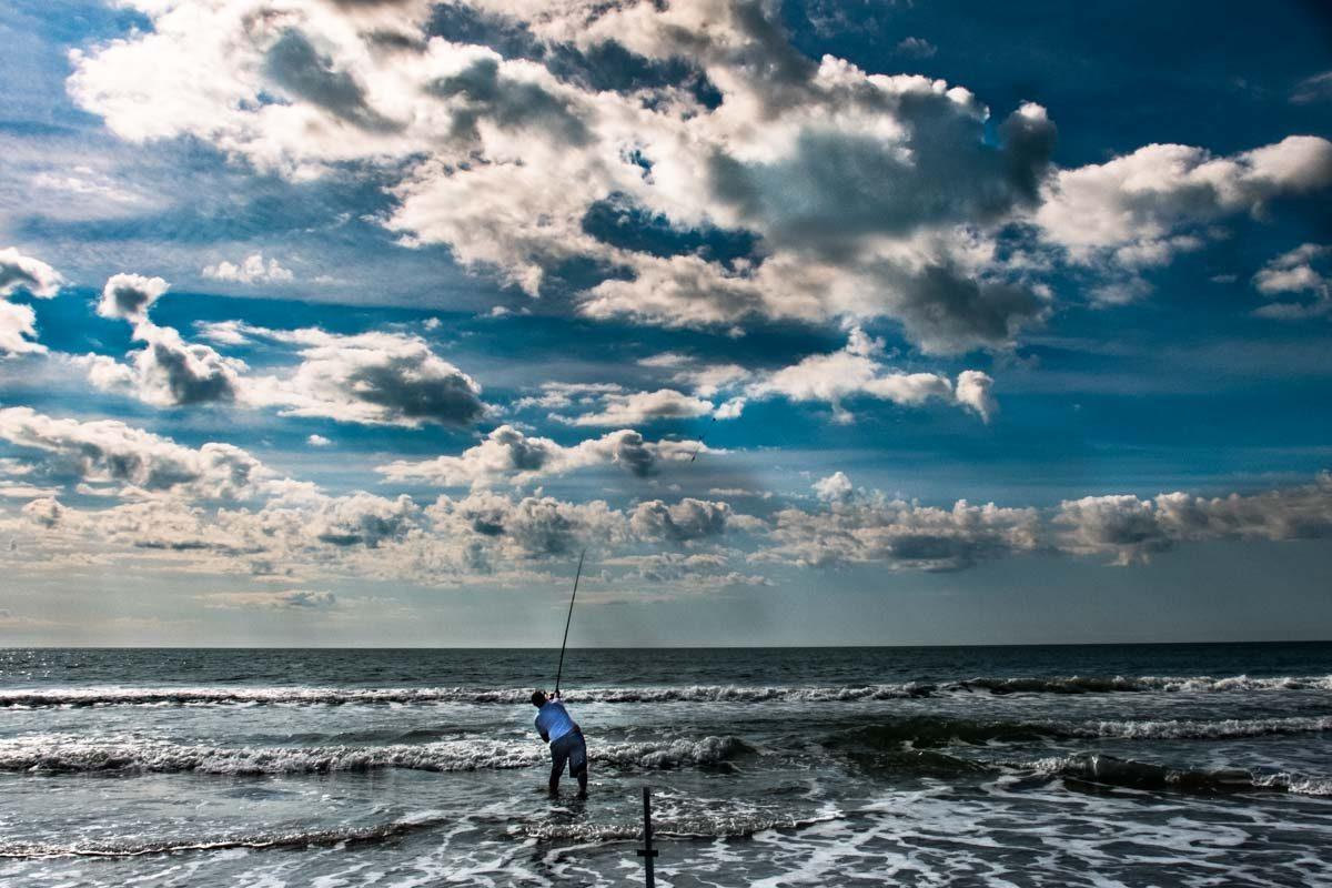 USA South Carolina Myrtle Beach surf casting