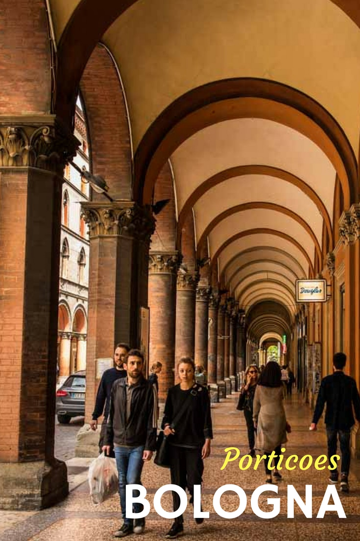 From all sizes, shapes, and eras, the porticoes of Bologna, Italy, contribute to this UNESCO World Heritage Site, and make for pleasant walks in all weather. #Italy #UNESCO #WorldHeritageSite #TravelPast50 #seniortravel #travelphotography #TBIN #historytravel #Europe #CityTour #WalkingTour
