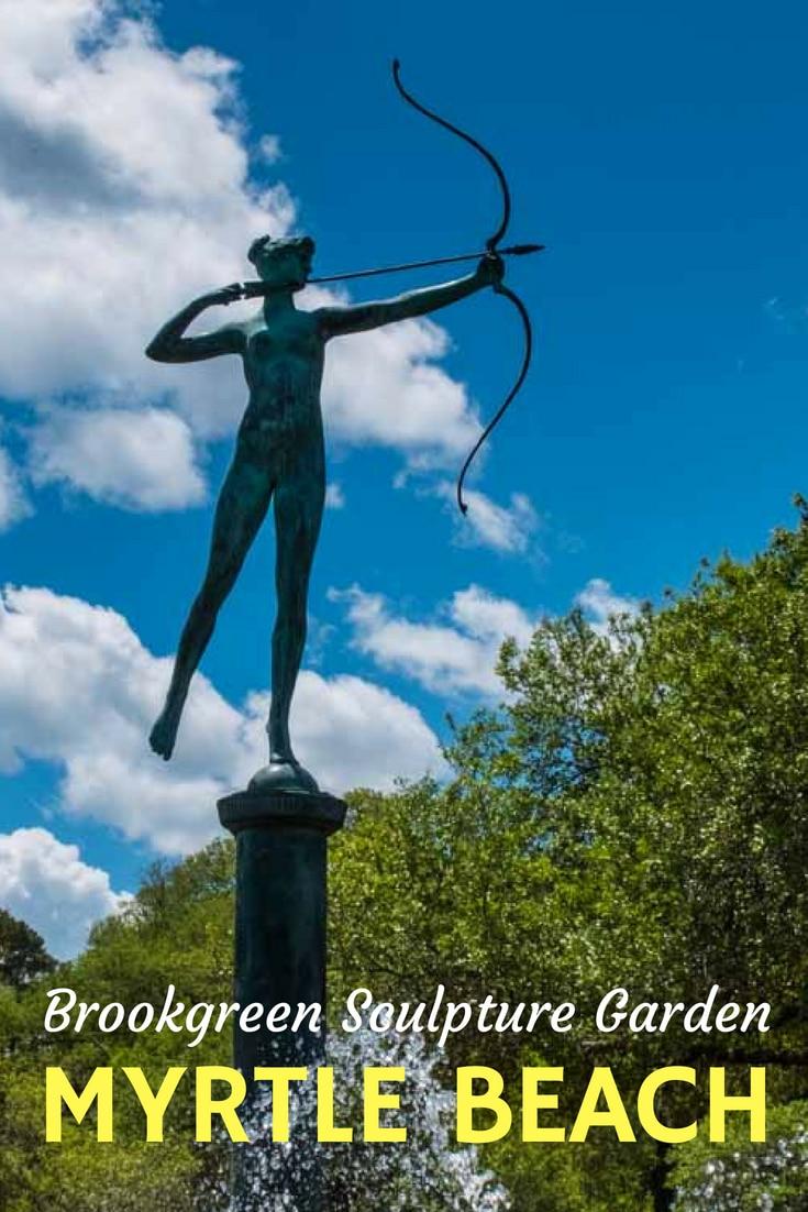 A cultural gem in  Myrtle Beach, Brookgreen Gardens combine hundreds of sculptures with the formal gardens. #MyMyrtleBeach #southCarolina #nature #Arts #TravelPast50 #seniortravel #travelphotography #TBIN #USA
