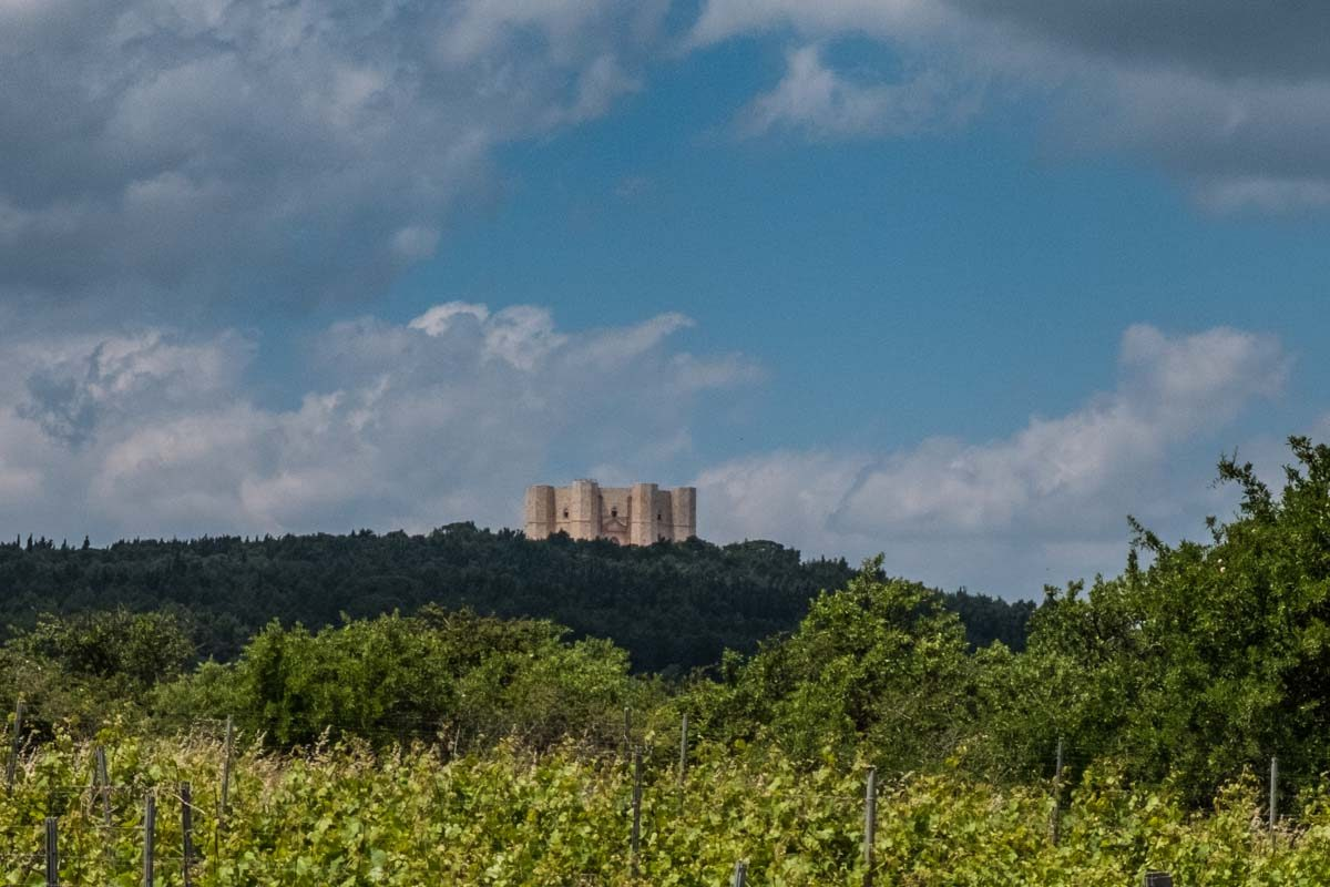 italy castel del monte in the distance